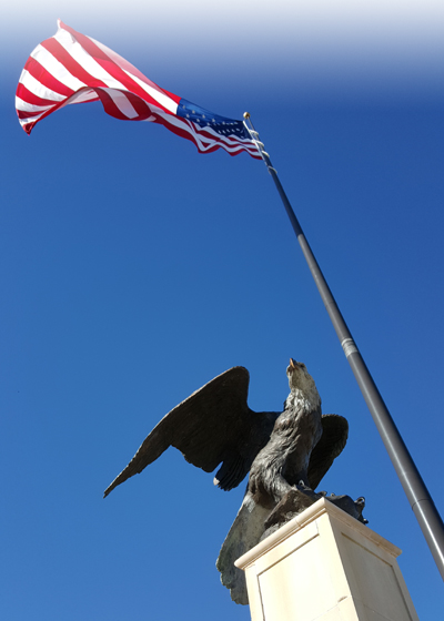 American-Flag-and-Eagle-Bronze